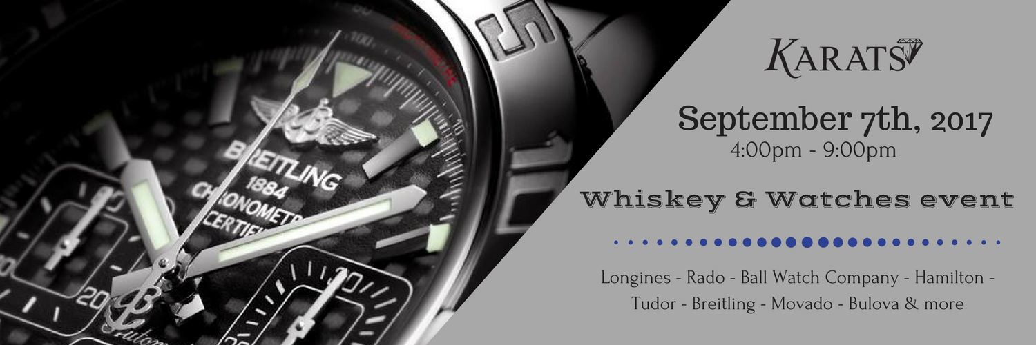 whiskey and watches event